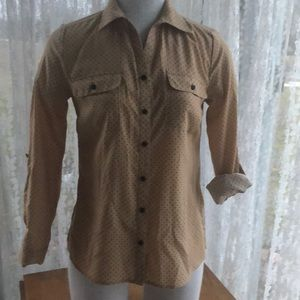 Studio Works petite small button up blouse